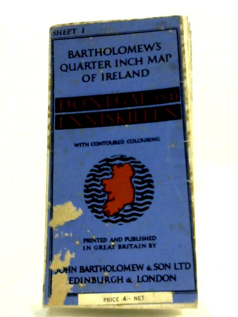 Map Of Ireland Book.Map Of Ireland Sheet 1 Donegal And Enniskillen By Anon