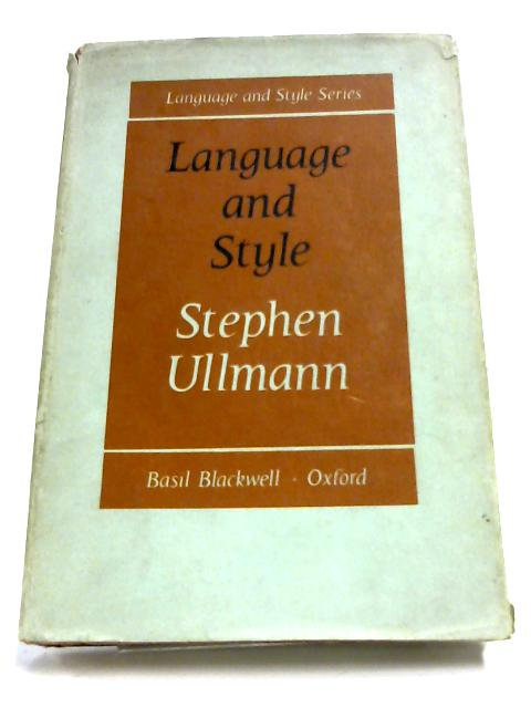 Language And Style By Stephen Ullmann