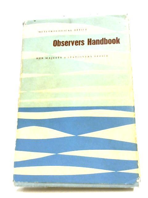 Observer's Handbook By Anon