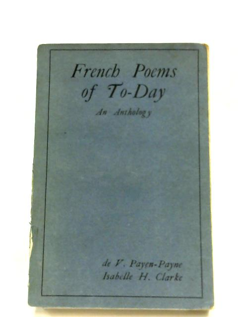 French Poems Of To-Day By Various