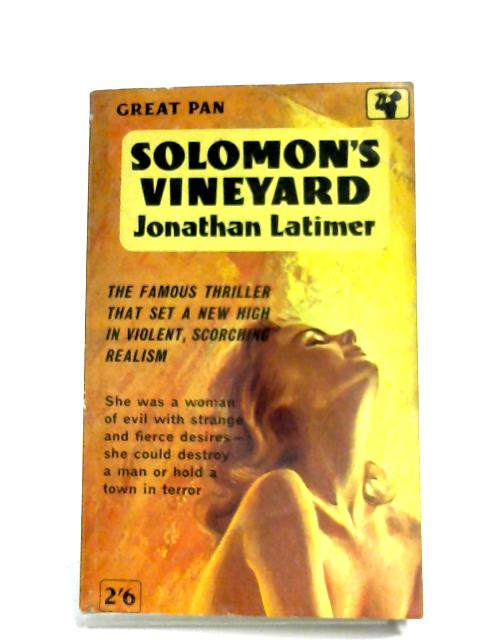 Solomon's Vineyard By Jonathan Latimer
