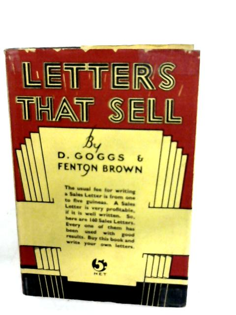 Letters That Sell By D. Goggs and Fenton Brown