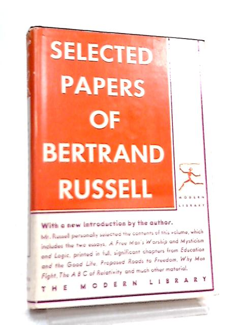 Selected Papers of Bertrand Russell by Bertrand Russell
