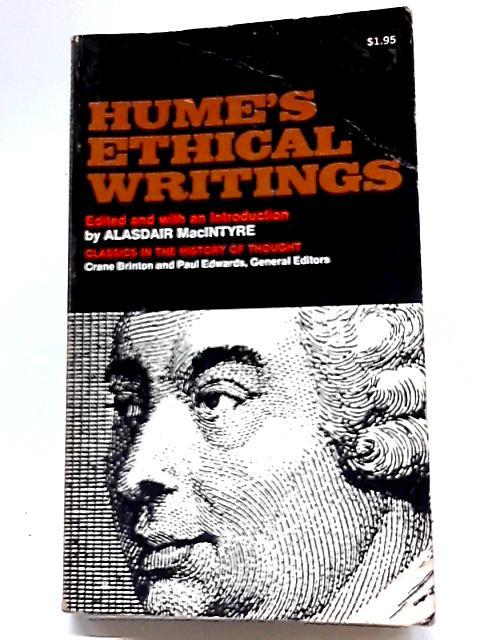 Hume's Ethical Writings By Alasdair MacIntyre