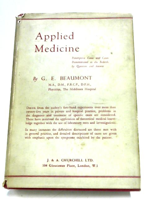 Applied Medicine By George Ernest Beaumont