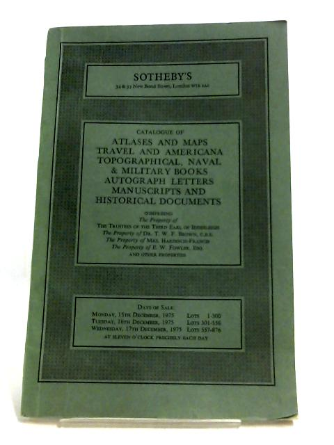 Atlases And Maps, Travel And Americana, Topogrpahical, Naval & Military Books By Anon