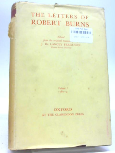 The Letters of Robert Burns By J L Ferguson