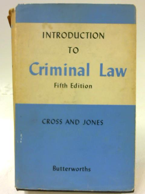 An Introduction to Criminal Law by Rupert Cross