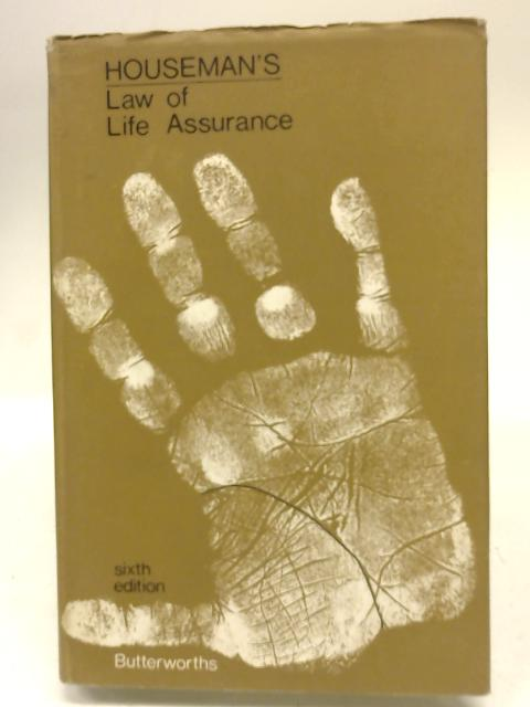 Houseman's Law of Life Assurance by E.A. Holder