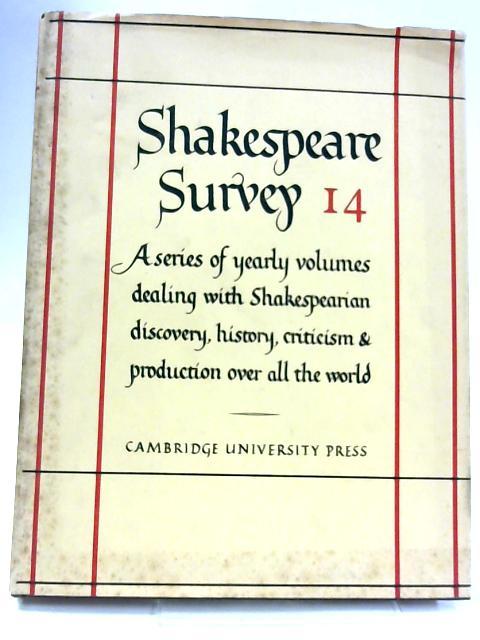Shakespeare Survey 14 By Allardyce Nicoll (Ed.)