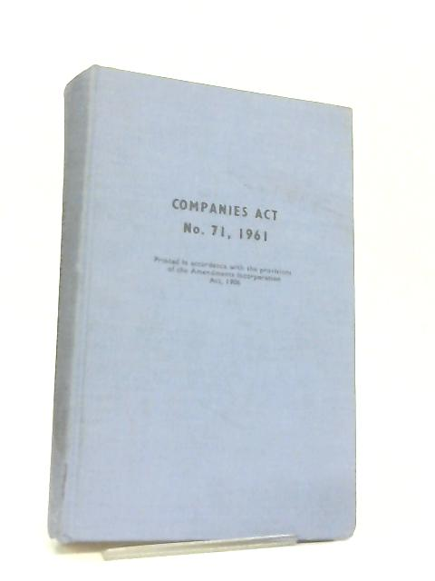 Companies Act No. 71, 1961 by Various