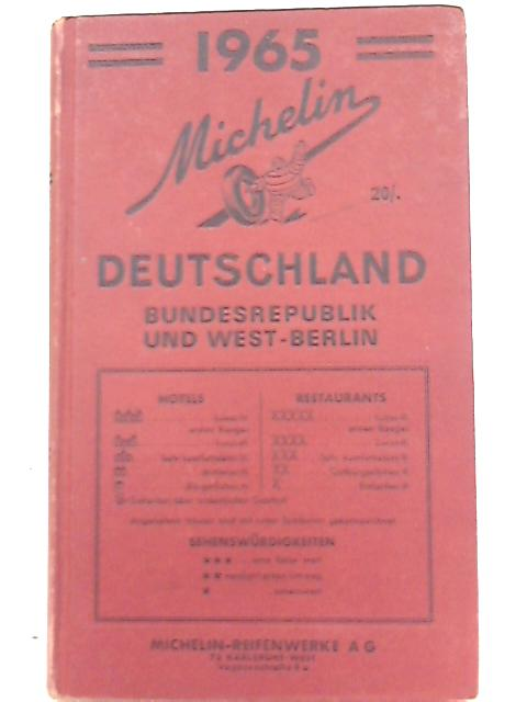 Michelin Deutschland Bundesrepublik und West Berlin 1965 By Unknown Author