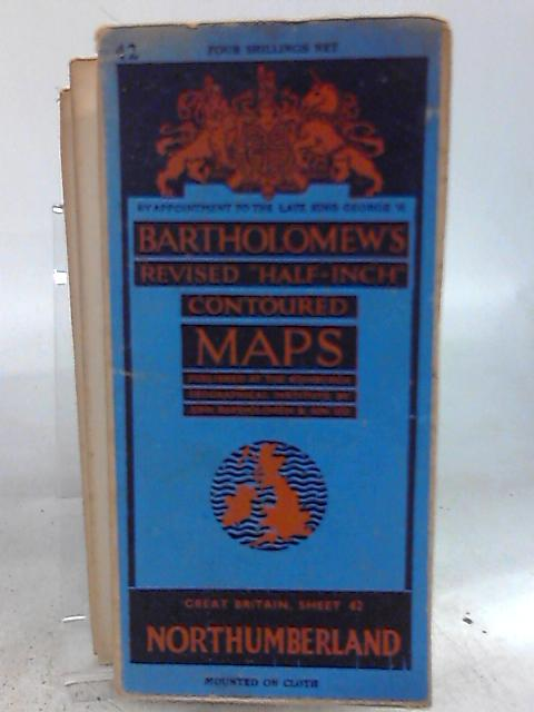 Half-Inch Contoured Maps Sheet 42. Northumberland. By Anon