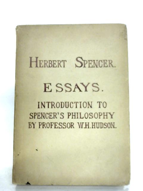 Seven Essays by Herbert Spencer