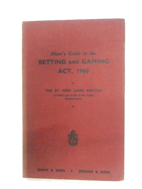 Betting and gambling act 1960 bettingen wertheim hotels in dubai