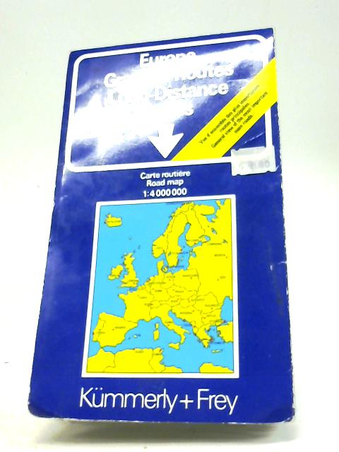 Europe Grandes Routes Long-Distance Roads By Kummerly & Frey
