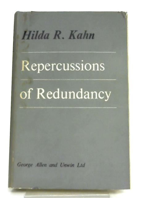 Repercussion of Redundancy By H. R. Kahn