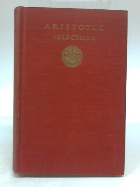 Aristotle Selections by W D Ross