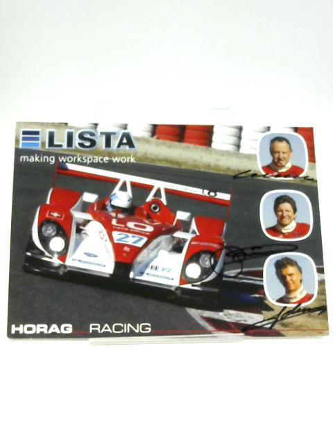 Signed Horag Racing Card. by Horag Racing