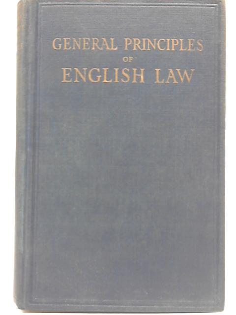 General Principles of English Law By O K Metcalfe