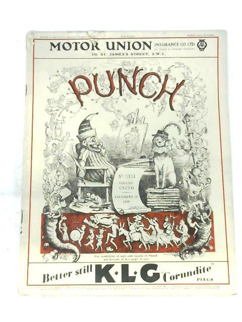 Punch: Volume CXCVII, December1939 By Anon