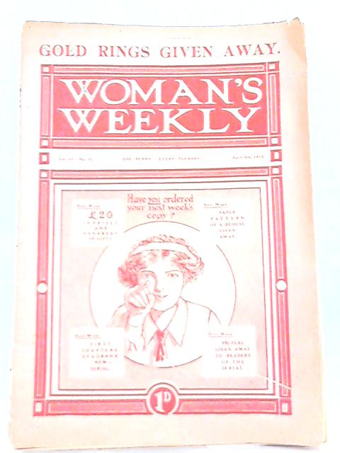 Woman's Weekly. Vol. III-No. 75. April 5th 1913 by Various