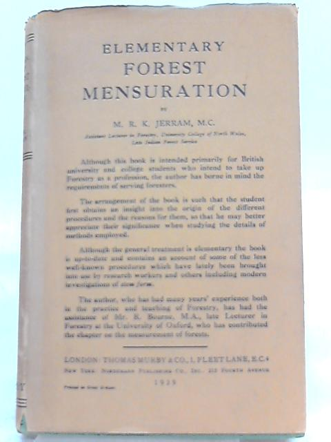 Elementary Forest Mensuration By M. R. K. Jerram