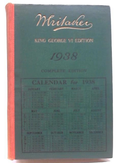 Whitakers Almanack 1938 by Joseph Whitaker