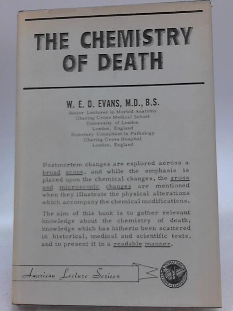Chemistry of Death by W. E. Evans
