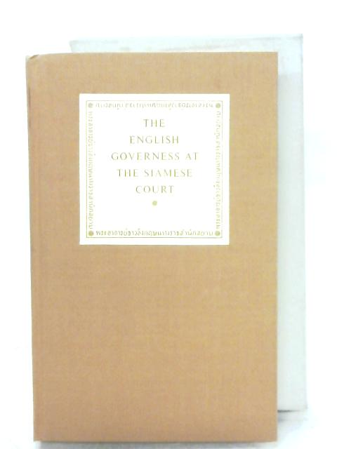 The English Governess At The Siamese Court By A. H. Leonowens