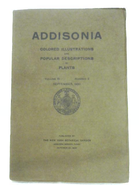 Addisonia: Vol. 15, No. 3 By Anon