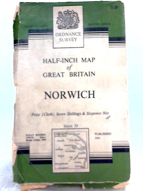 Norwich: Half-Inch District Map, Sheet 39 By Unknown Author