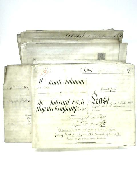 15 Legal Documents Including Lease Agreements, Indentures and a Property Inventory 1868-1902 By Anon