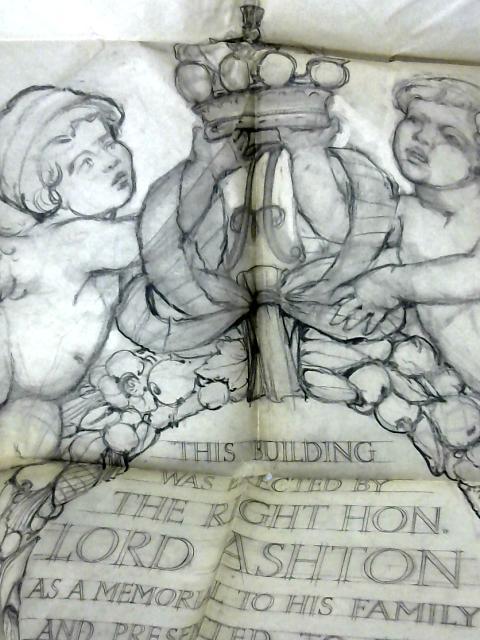 Origninal Blue-Print Sketch of Ashton Memorial by Anon