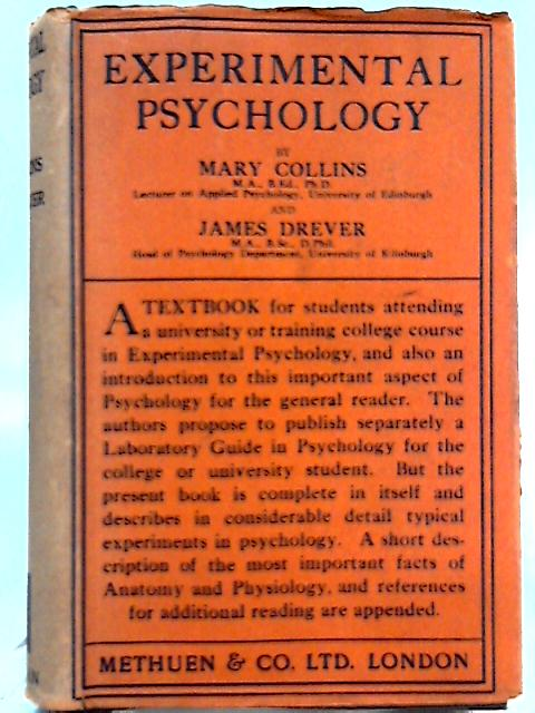 Experimental Psychology By Mary Collins, James Drever