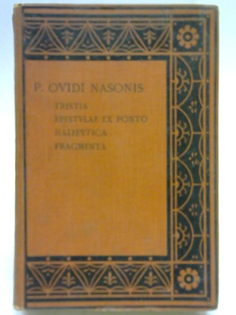 P. Ovidi Nasonis By S G Owen
