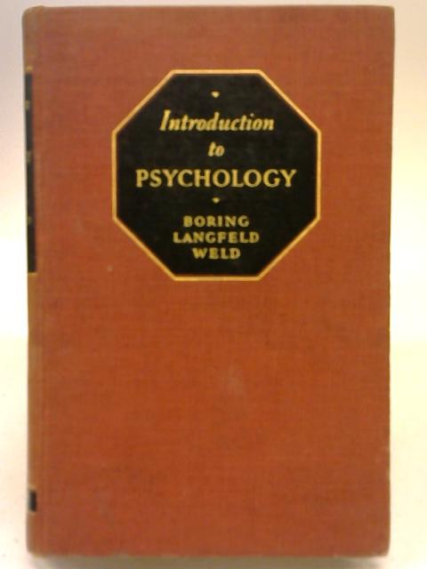 Introduction to Psychology. By Edwin Garrigues Boring