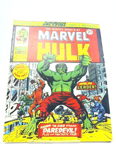 The Mighty World Of Marvel Starring The Incredible Hulk No. 107 19th October 1974 By Stan Lee