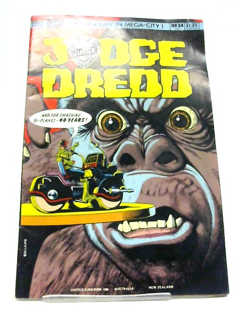 Judge Dredd #34 August 1986 By John Wagner and Alan Grant