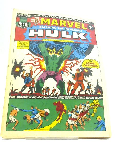 The Mighty World Of Marvel Starring The Incredible Hulk No. 42 21st July 1973 By Stan Lee