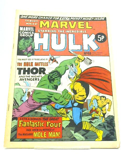 The Mighty World of Marvel starring the Incredible Hulk; No. 48 Week Ending September 1 1973 by Stan Lee