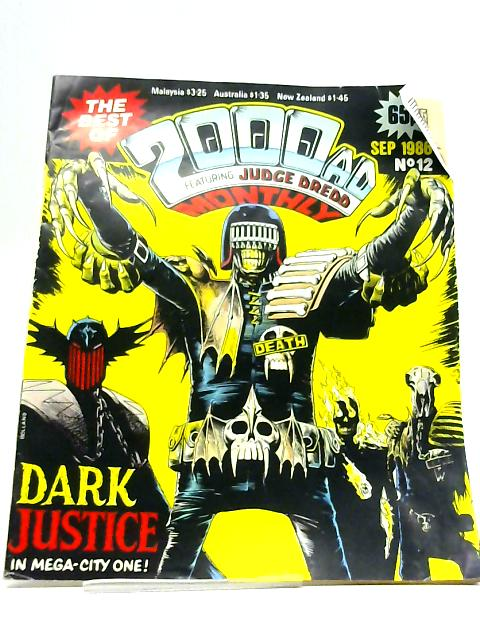 The Best of 2000ad Monthly No 12 Sept 1986: Comic By John Wagner, Alan Grant
