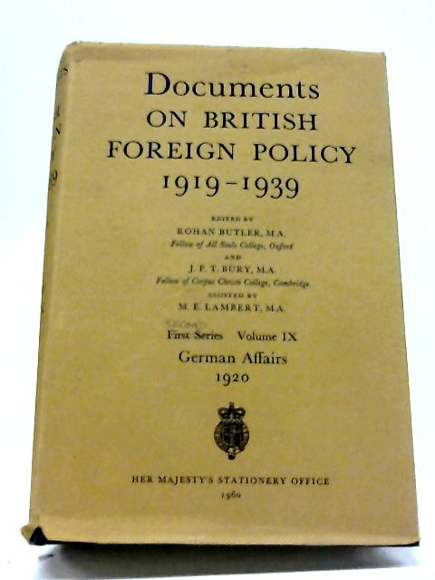 Documents On British Foreign Policy 1919-39, Second Series, Volume IX:The Far Eastern Crisis 1931-2 By Rohan Butler