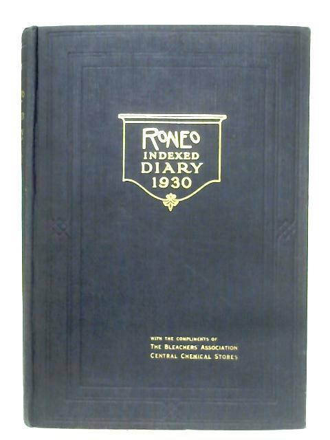 Roneo Indexed Diary 1930 By Anon