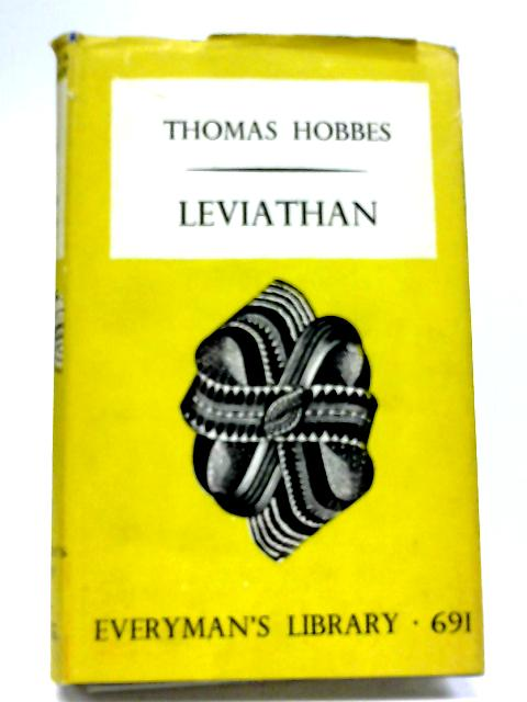 Leviathan (Dent Everyman's Library) By Thomas Hobbes
