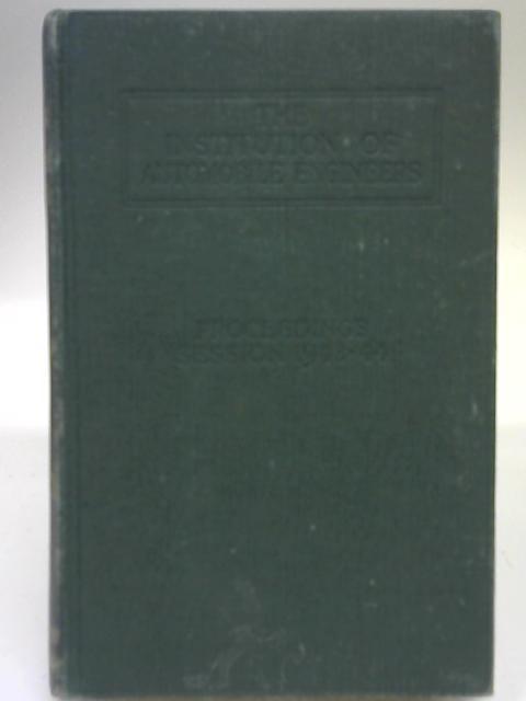 Proceedings XXXVIII Session 1943-1944 By Anon