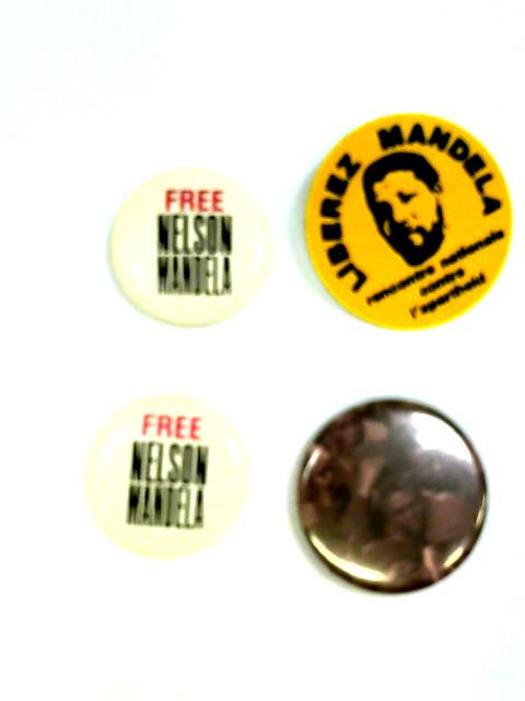 Set of 4 Nelson Mandela Badges By Unstated
