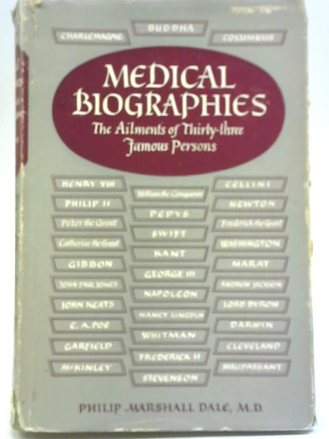 Medical Biographies By Philip Marshall Dale