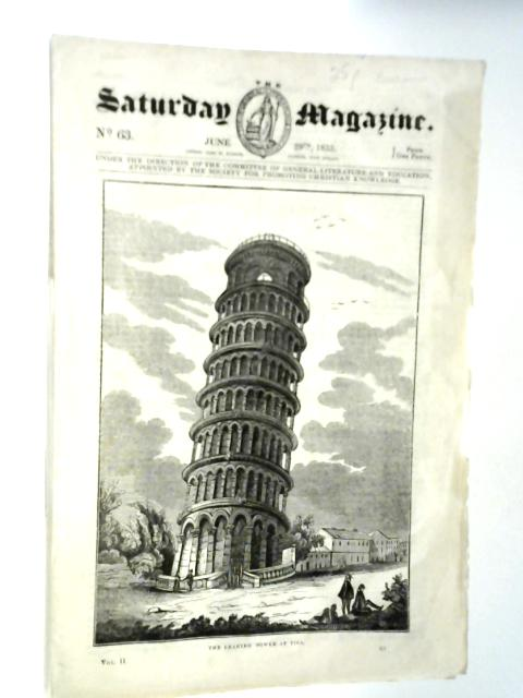 The Saturday Magazine No 63 June 1833 By Various
