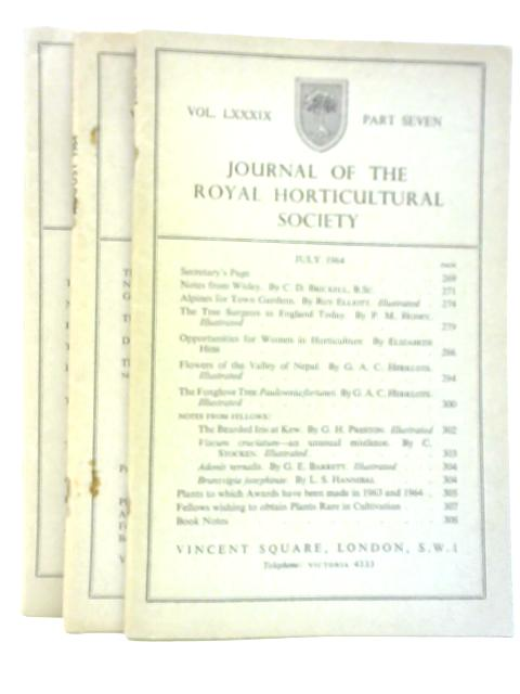 Journal of the Royal Horticultural Society July - Sept 1964 (Vol LXXXIX Part 7-9) By Various